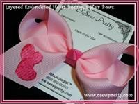 THE YOU DESIGN LAYERED HEART EMBROIDERED HAIR BOW