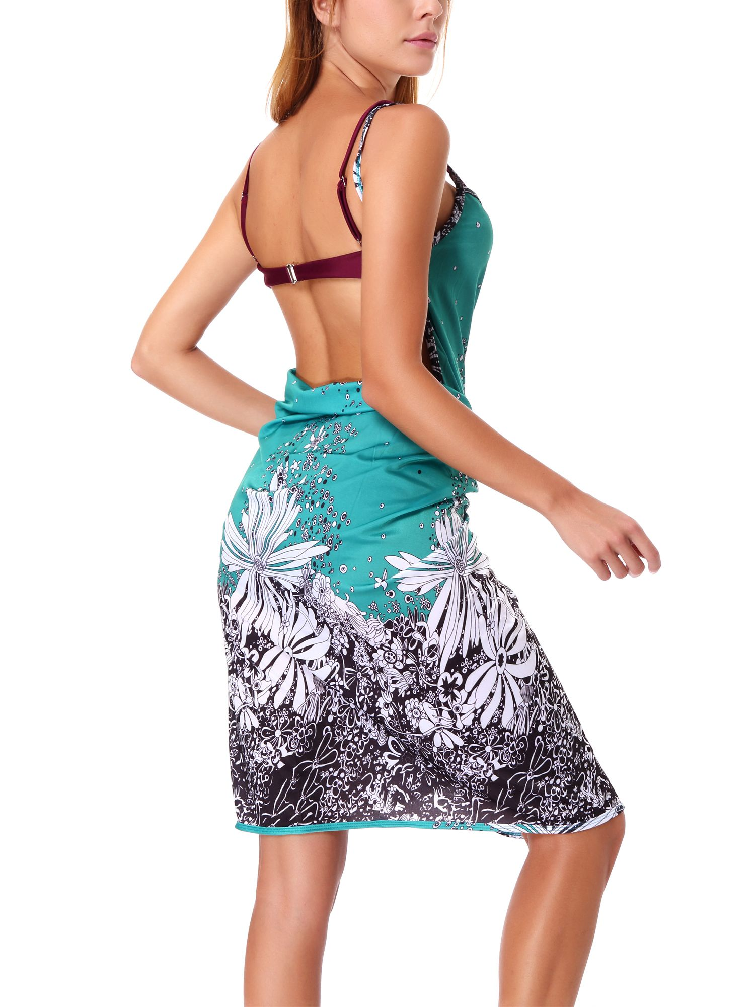 0b46ef7c24 SAYFUT Summer Women Bikini Cover Up Strap Sleeveless Backless Wrap Colorful  Beach Dress#Bikini, #Cover, #Strap