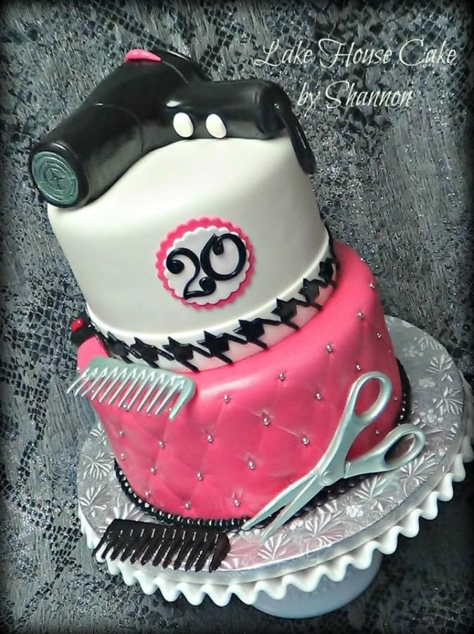 Awe Inspiring Hair Stylists Birthday Cake Cake By Lakehousecakebyshannon Funny Birthday Cards Online Overcheapnameinfo