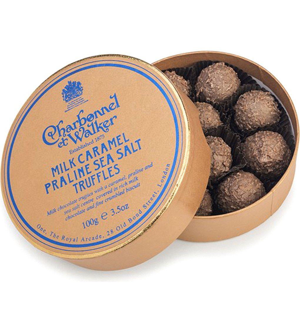 Chocolate gifts · CHARBONNEL ET WALKER Milk caramel praline sea salt  truffles 100g 28730e6b0