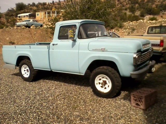 1959 Ford F100 4x4 High Boy Custom Cab Classic Ford Trucks