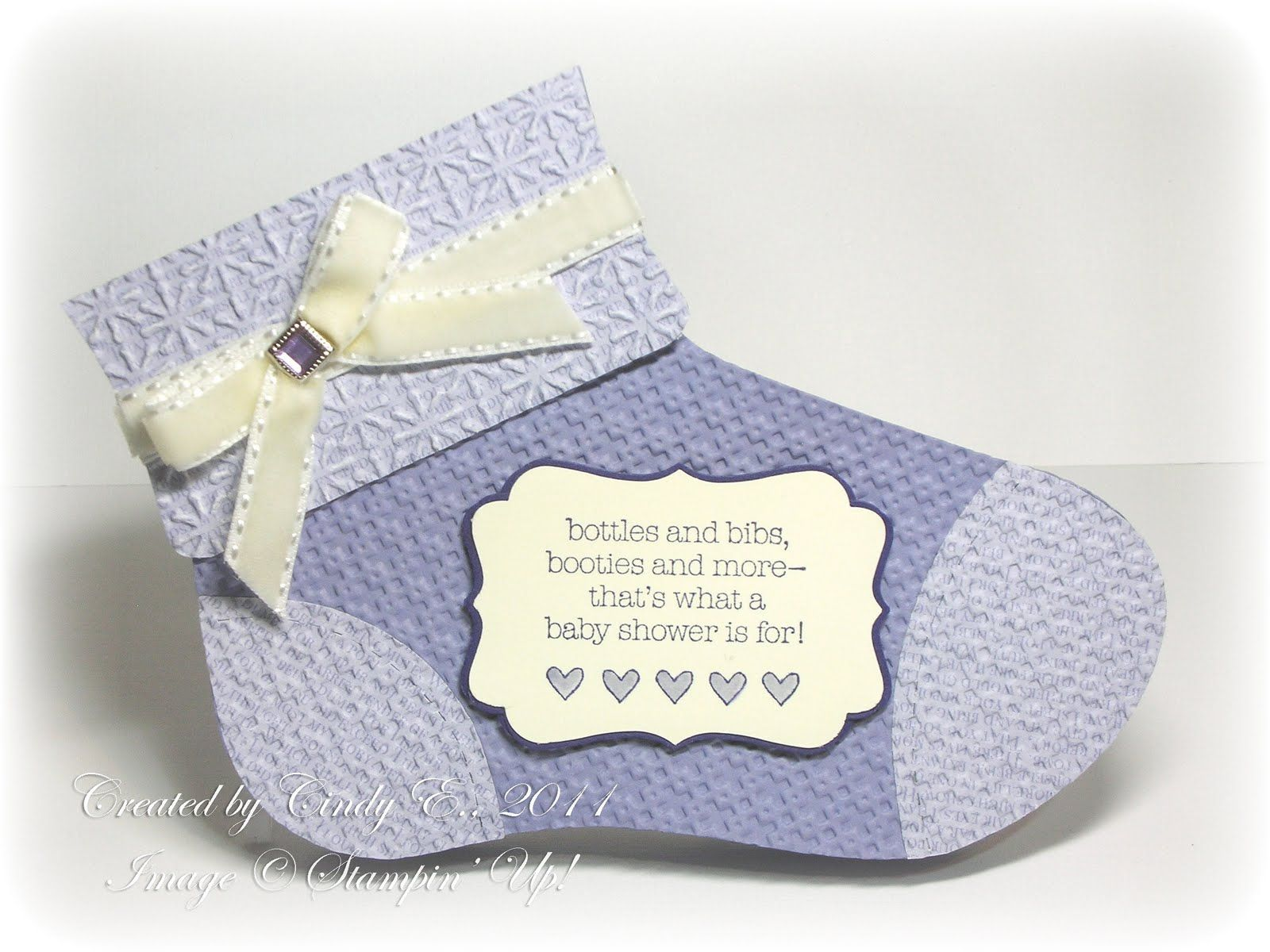 Baby Bootie - from stocking die
