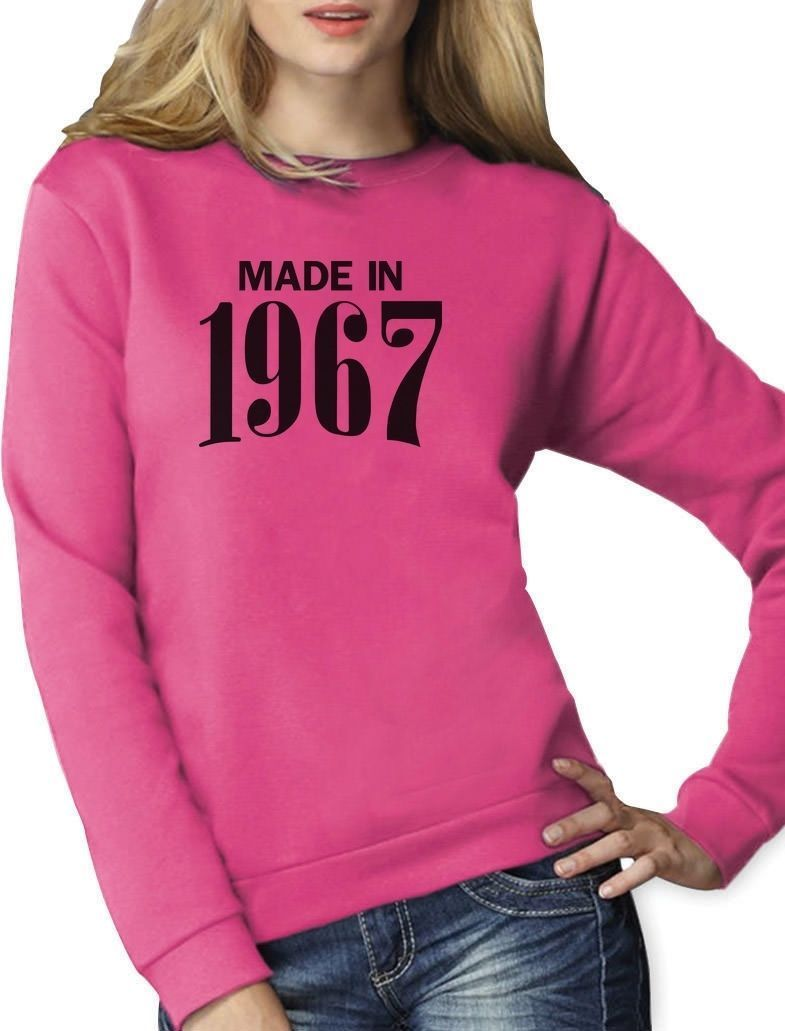 Made In 1967 50Th Retro Birthday Gift Women Sweatshirt Novelty Present