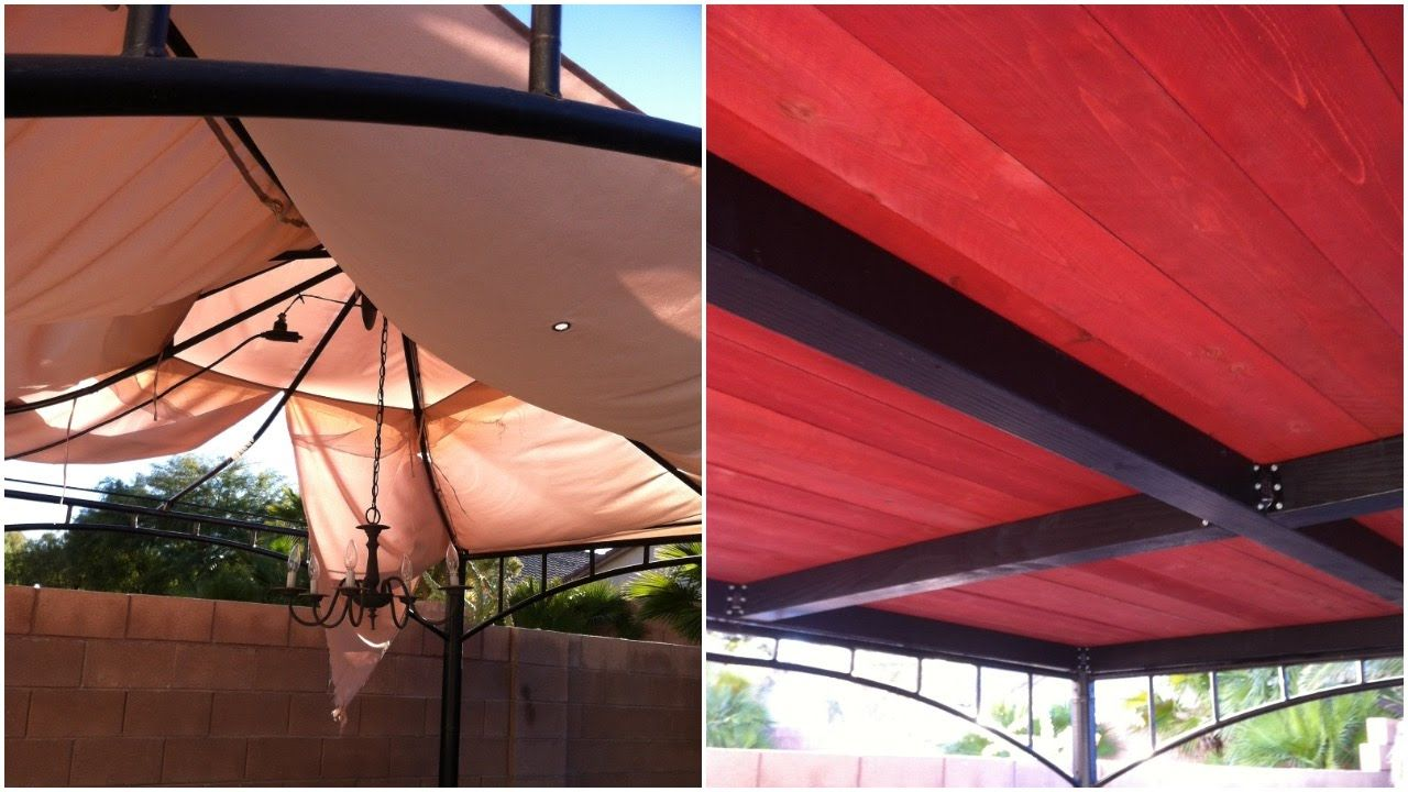 Turn Your Old Ripped Target Gazebo Into This Replacement Patio Gazebo Diy Gazebo Gazebo Roof