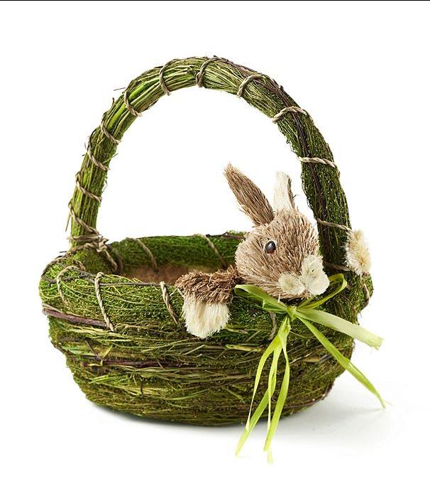 LivingQuarters Basket With Bunny Basket, Bunny