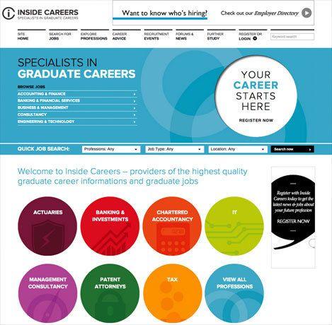 Inside Careers Website By Ascend Studio Graduate Jobs Career Information Career