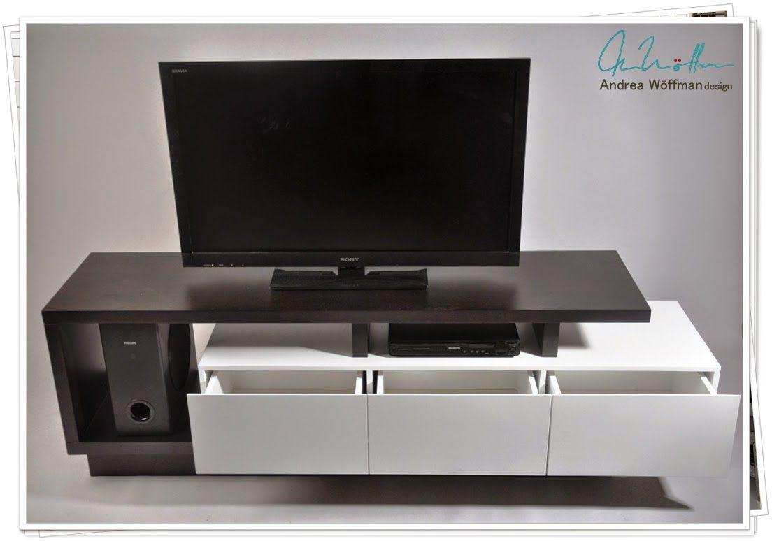 Mueble tv lcd moderno melamina y laqueado 1 jpg 1104 for Mueble tv moderno