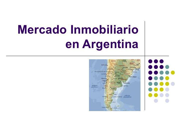 Mercado inmobiliario en argentina