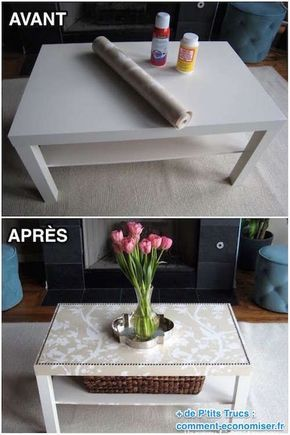 comment facilement transformer une table ikea en meuble chic id es pour la maison pinterest. Black Bedroom Furniture Sets. Home Design Ideas