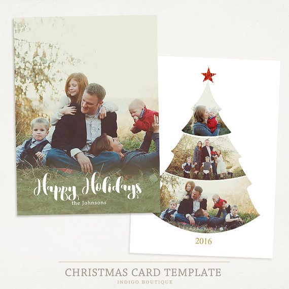 Christmas Card Template For Photographers And Personal Use Etsy In 2021 Holiday Card Template Christmas Photo Card Template Christmas Card Template