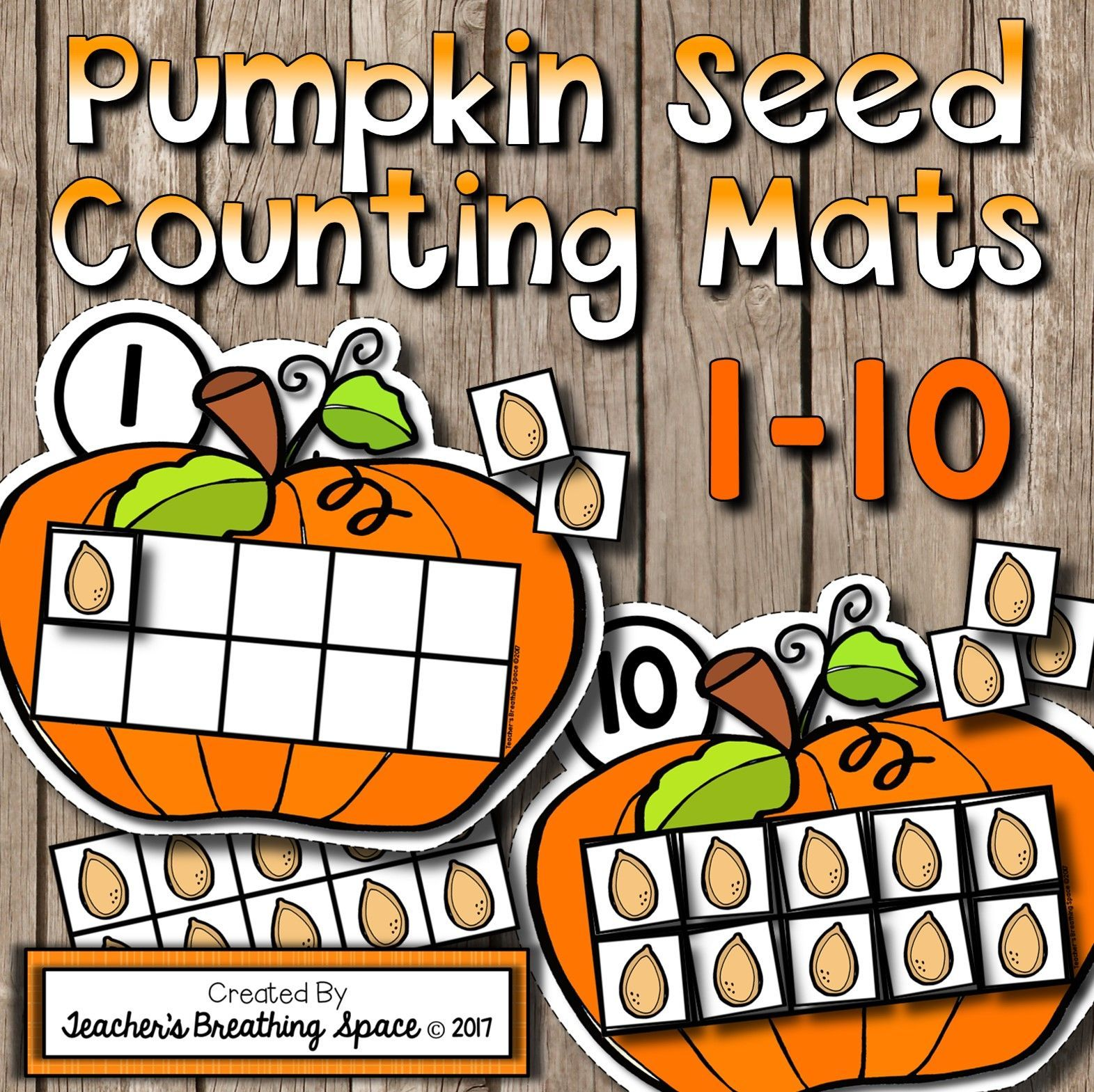 Fall Counting Mats 1 10 Pumpkin Counting Mats With