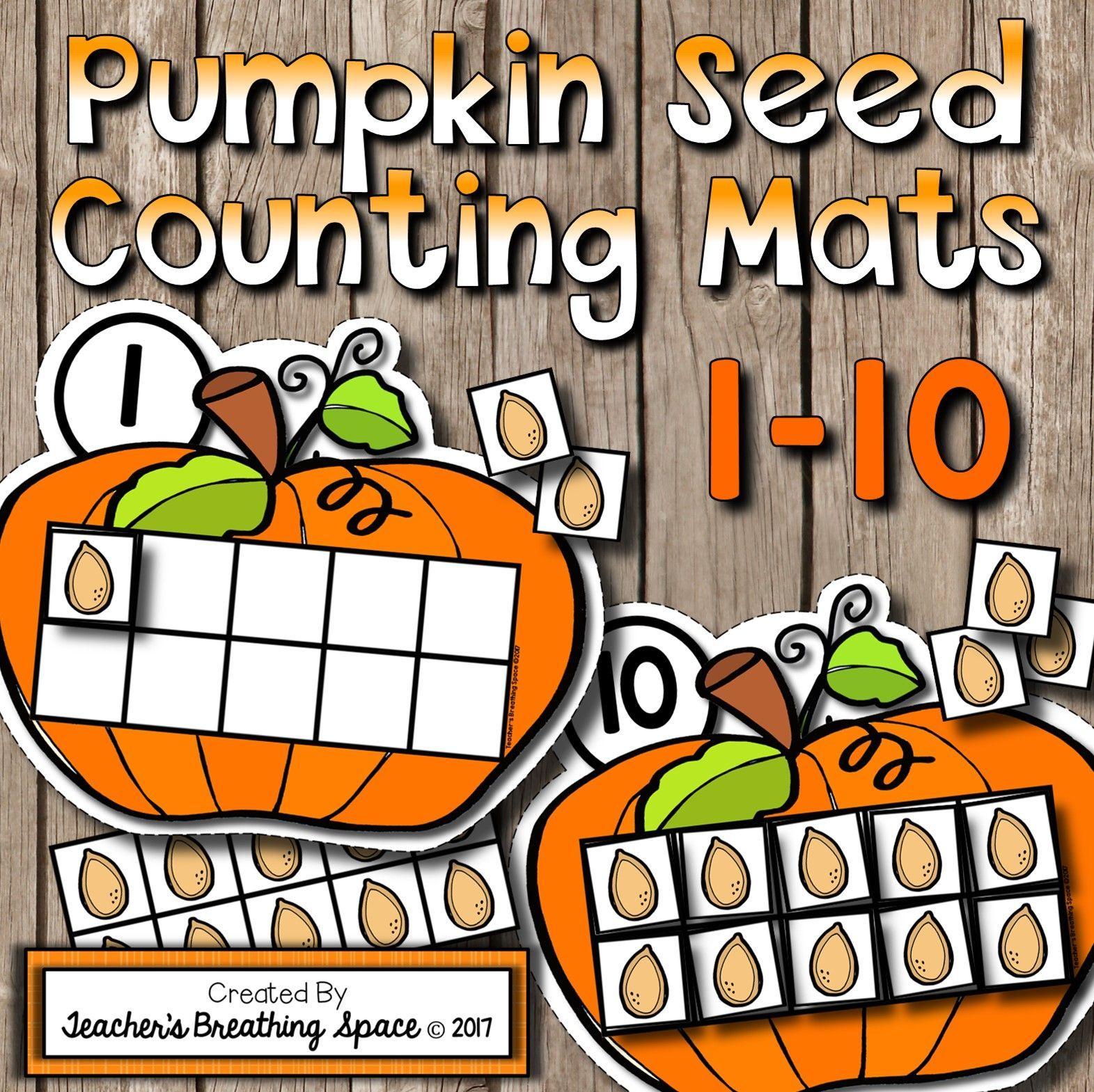 Fall Counting Mats 1 10 Pumpkin Counting Mats With