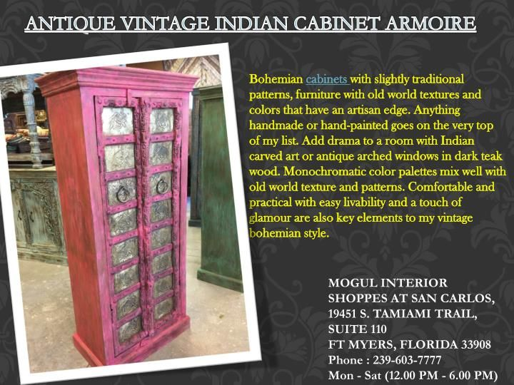 Bohemian Cabinets With Slightly Traditional Patterns, Furniture With Old  World Textures And Colors That Have