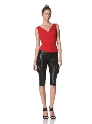 Norma Kamali Women's Tara Shirred Top (Red)
