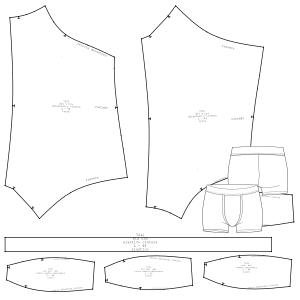 69a5c8735866 Boxer 7241 : Ropa Interior : HOMBRES : Patrones Industriales de Moda