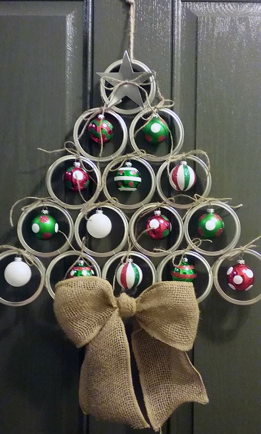 canning mason jar lid christmas tree door hanger adorable