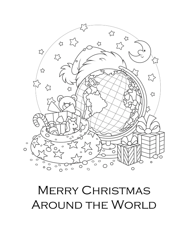 Christmas Around The World Coloring Page Coloring Pages Free Christmas Printables Coloring Pages For Kids