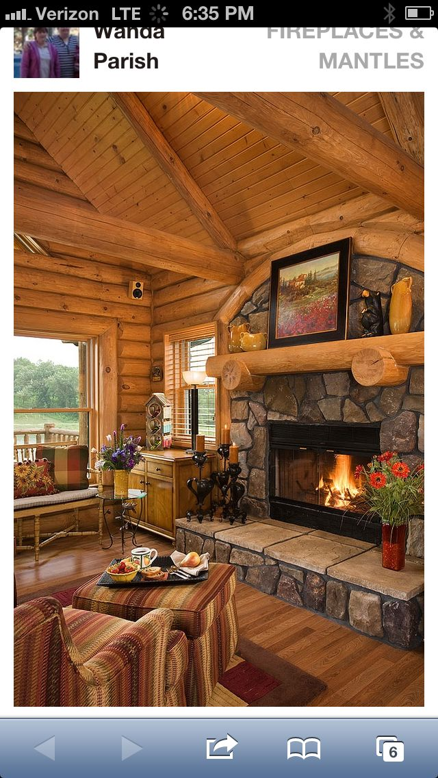 If we ever build a cabin House Pinterest Cabin ideas, Cabin and We
