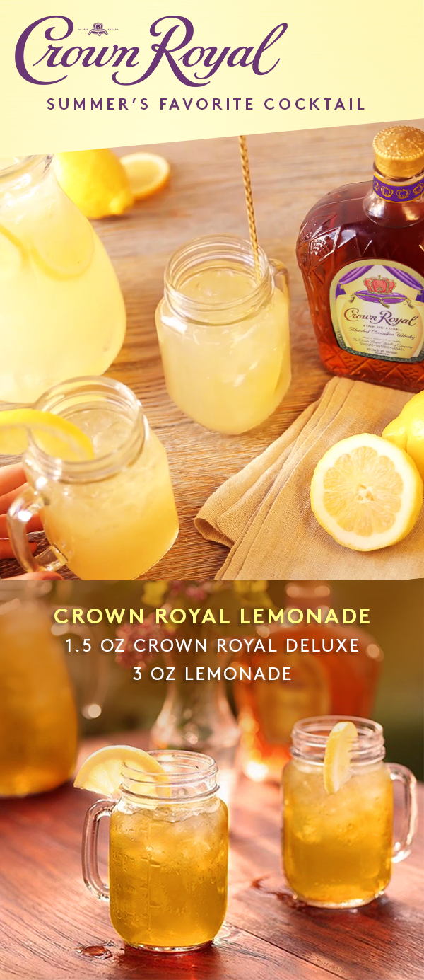 Squeeze summer to its very last drop with crown royal lemonades a