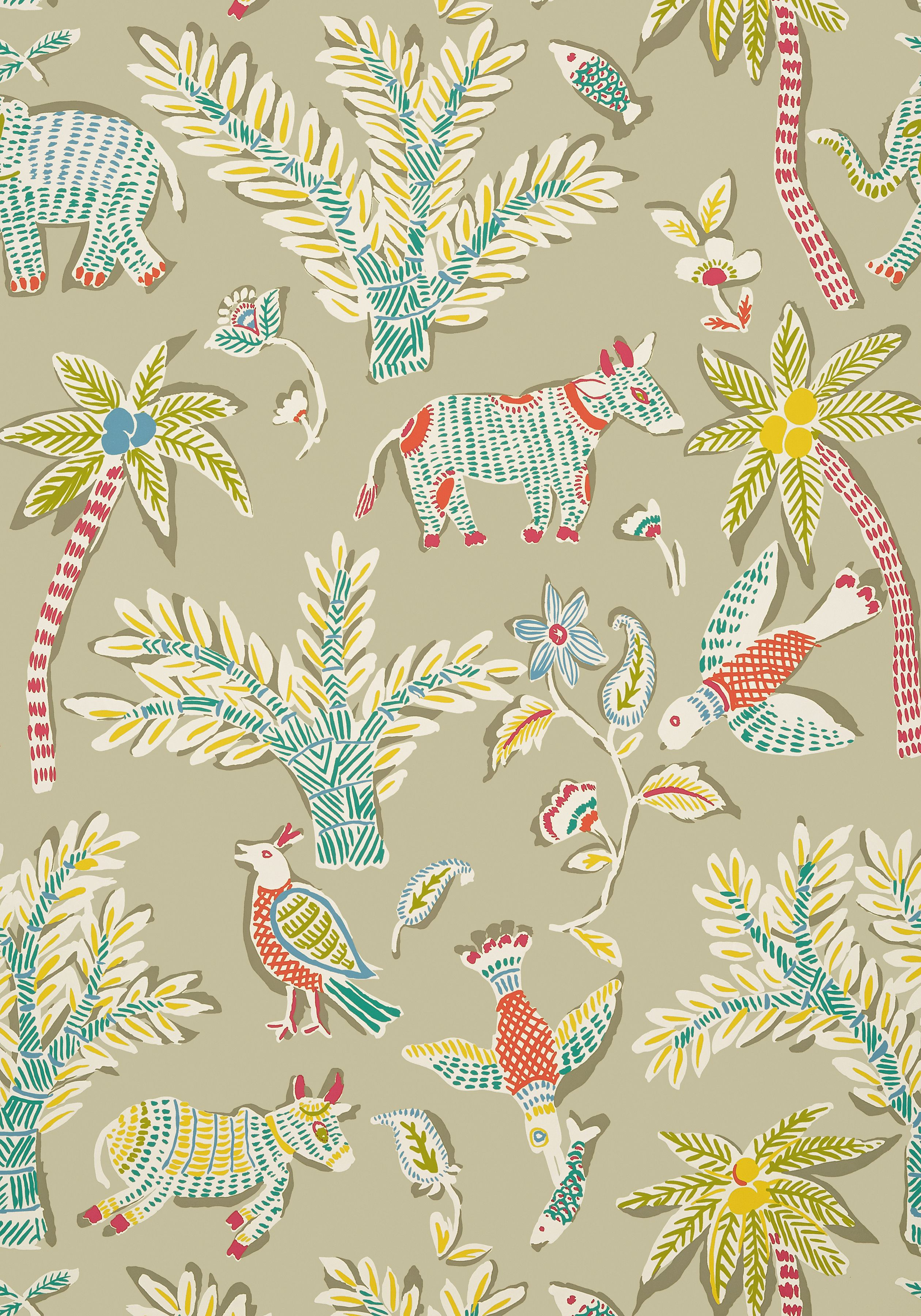 Goa Beige T88724 Collection Trade Routes From Thibaut