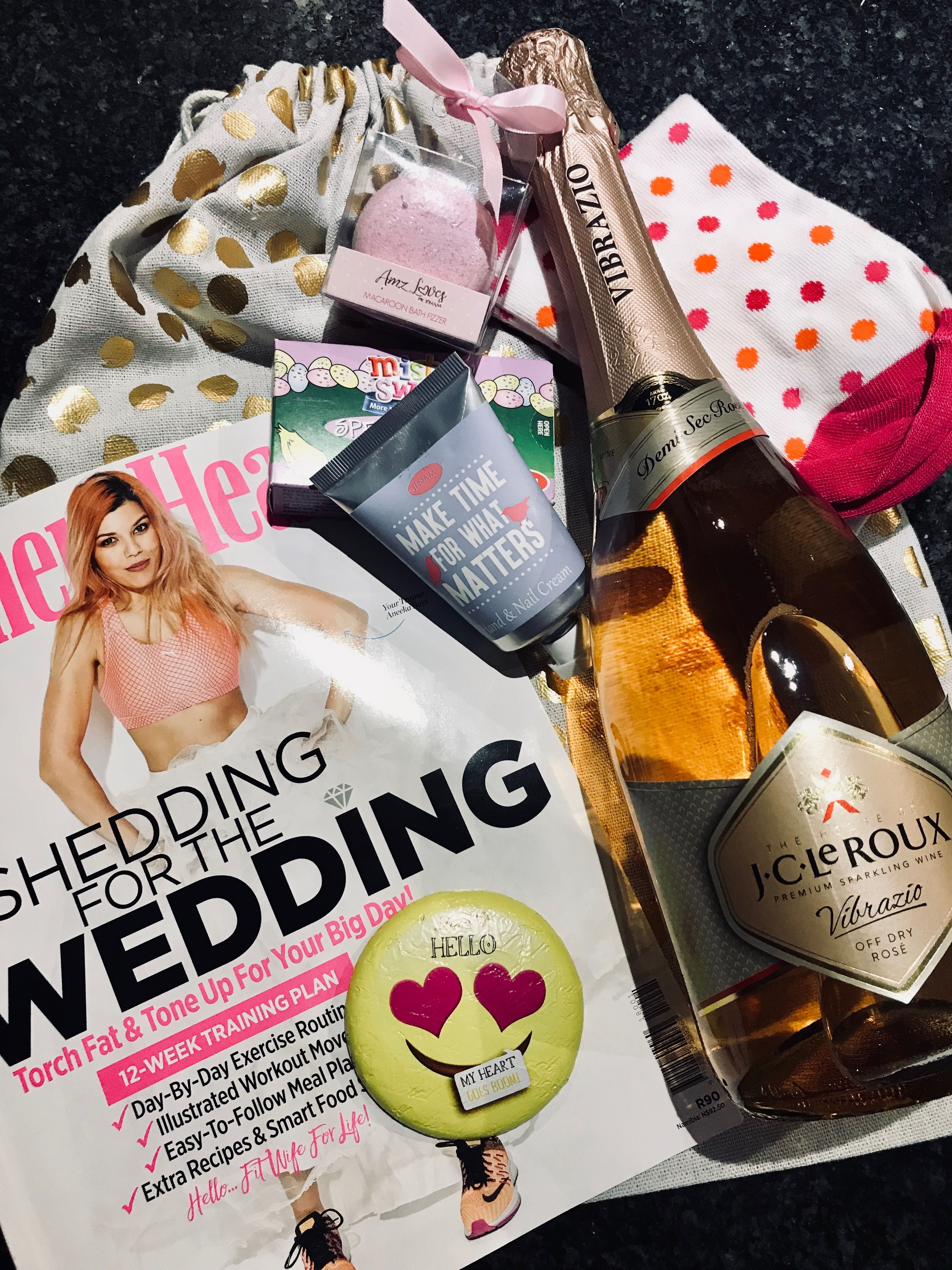Bride to be maid of honour duty gift bag tone it up
