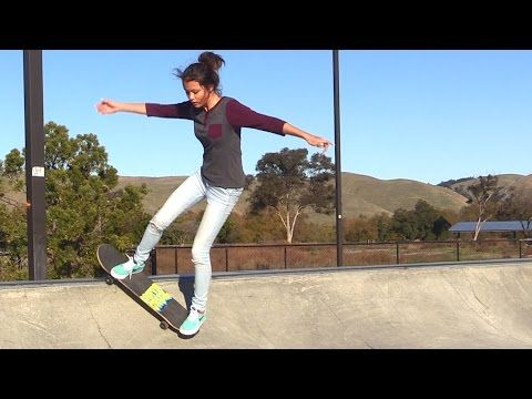 Girl Learns Her First Skateboard Tricks Ep 5 Rock To Fakie Music At Tronnixx Skateboard Rock And Roll Learning