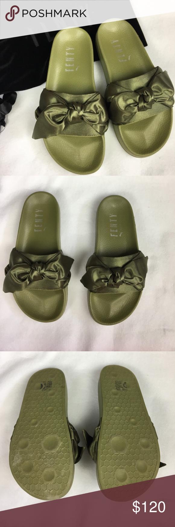 best sneakers 37047 39aea FENTY x PUMA bow slides Authentic Rihanna bow slides ! No ...