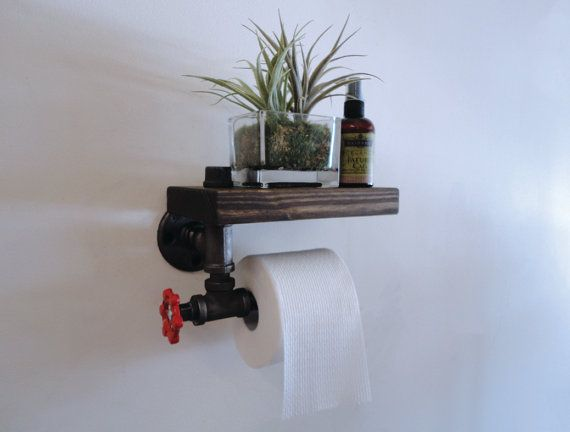 Toilet Paper Holder the Commode Thick by Mobeedesigns on Etsy