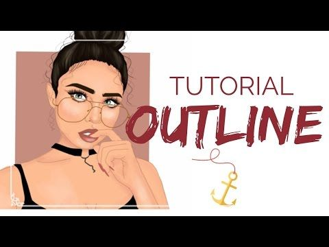OUTLINE TUTORIAL - ADOBE DRAW - YouTube | Illustrations ...
