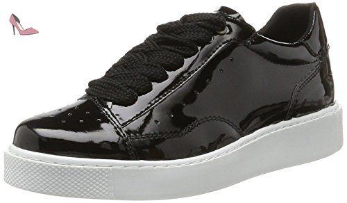 Tamaris 23672, Sneakers Basses Femme, (Black Patent), 40 EU