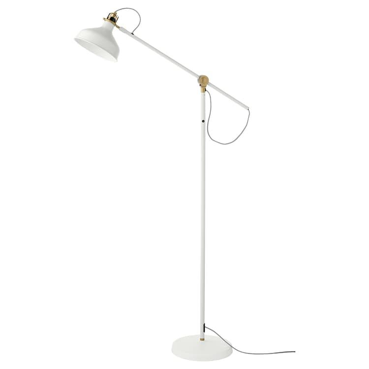 Ranarp Floor Reading Lamp With Led Bulb Off White Ikea Ranarp Floor Lamp Bedroom Lamps