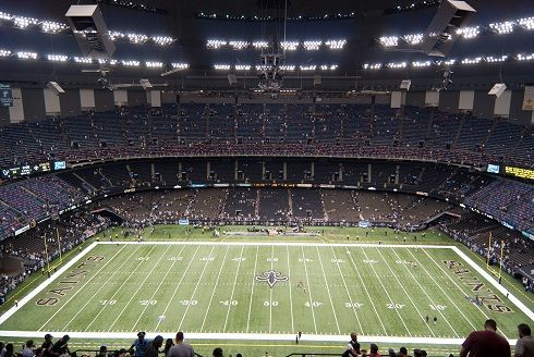 mercedes benz stadium saints nfl stadiums pinterest