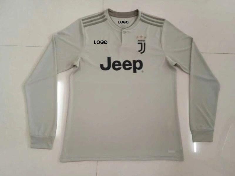 26c40448d12 2018 19 Thai Quality Men Grey Juventus Away Soccer jersey football shirt