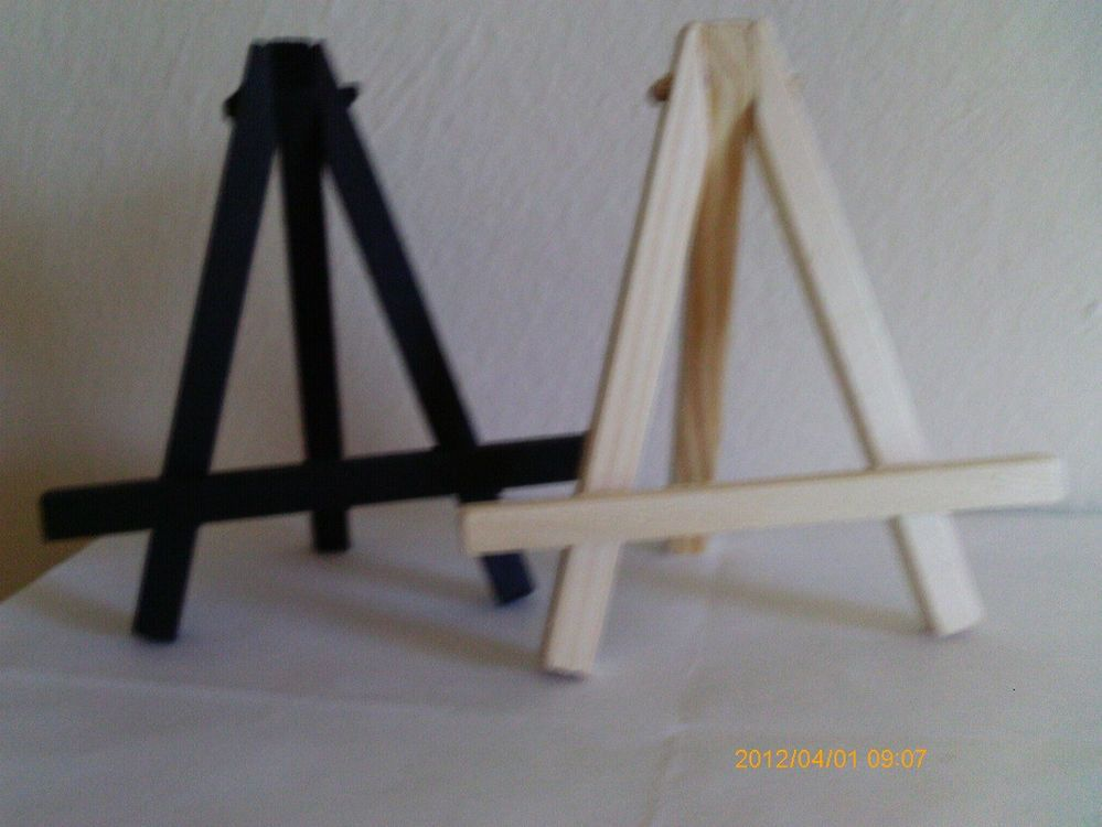 Miniature Wooden Easel, Choose from Natural or Black,Great for Display-ACEO - $3.00