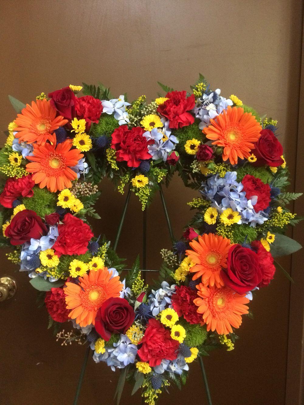 Garden open heart funeral flower arrangement bysamantha miles garden open heart funeral flower arrangement bysamantha miles terris flower shop izmirmasajfo