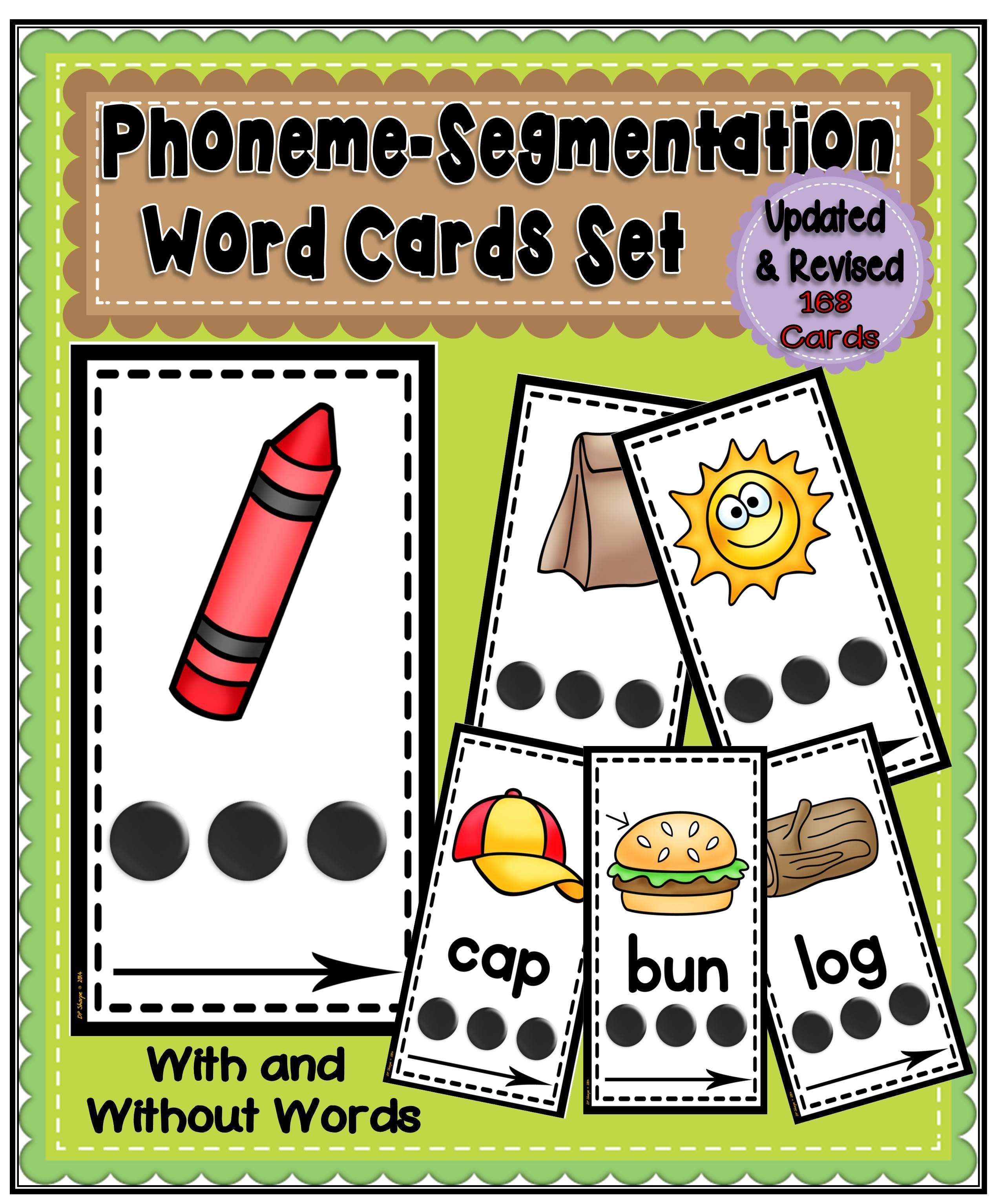 Phoneme Segmentation Card Set