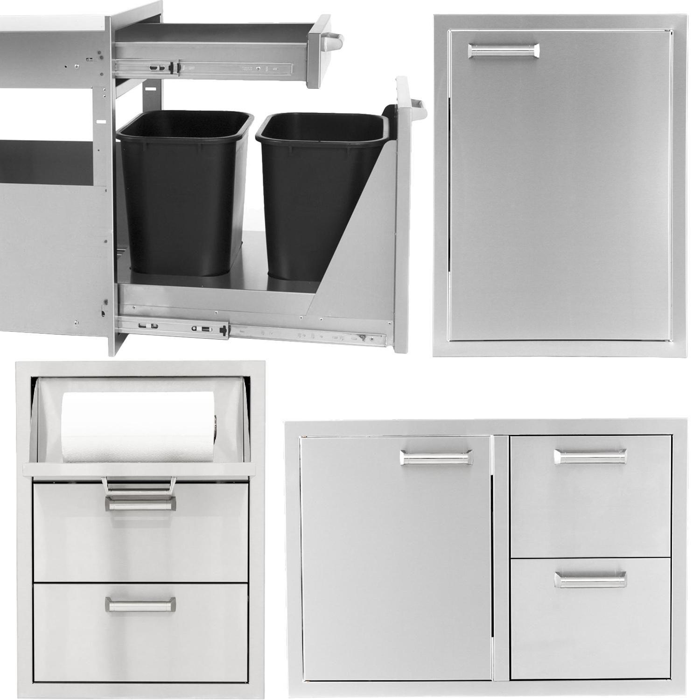 Sonoma Series 4 Piece Outdoor Kitchen Storage Package Kitchen Storage Storage Storage Spaces