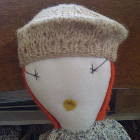 jess brown doll hand-knitted beret