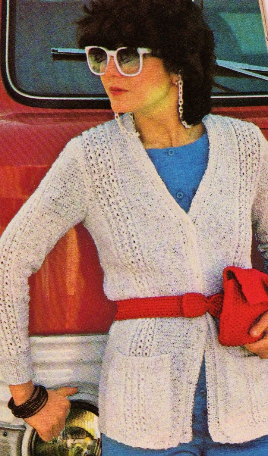 Summer Cardigan Sweater with Clutch Purse and Two Styles of Belts ...