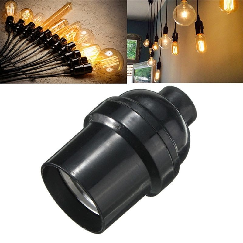 Lamp Bases Adapter E27 E26 4a 250w Light Bulb Lamp Holder Pendant Edison Screw Cap Socket Vintage Black 250v Light Bulb Lamp Bulb Light Accessories