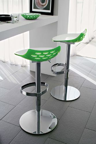 Designing With The Perfect Pop Of Color Has Never Been So Easy With The Jam Height Adjustable Barstool By Cal Bar Stools Adjustable Bar Stools Funky Bar Stools