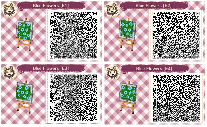 Blue Flower Beds By Quirkberry Animal Crossing New Leaf Animal Crossing Animal Crossing Qr Acnl Paths