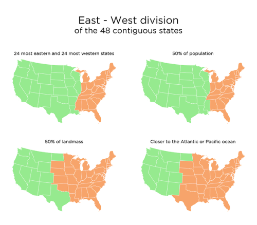 Us Map East West USA East   West division, 4 methods. | Amazing maps, Map, World