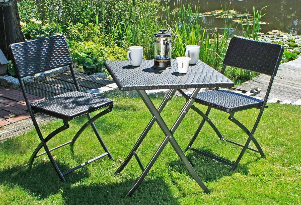 Garden Pleasure Gartenmobelset Ventana 3 Tlg 2 Stuhle Tisch