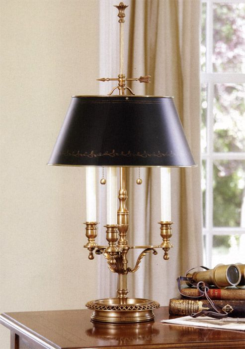 Brass Table Lamp Black Shade Brass Table Lamp Vintage Table Lamp Antique Table Lamps Brass Table Lamps
