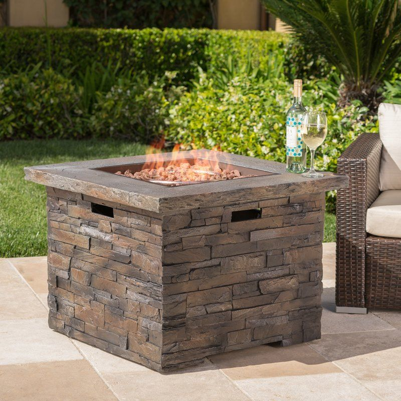 Stripling Stone Propane Fire Pit Table Fire Pit Table Outdoor