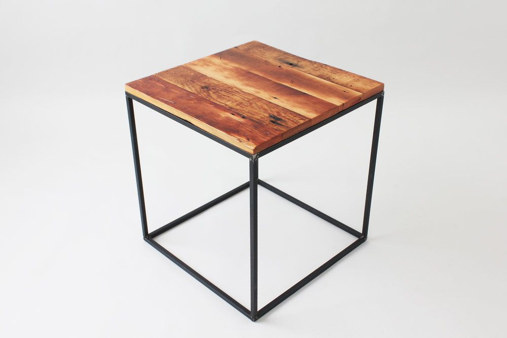 7d8bdd0fc0 Reclaimed Cube Side Tables Cube Side Table, Modern Side Table, Modern  Industrial, Industrial
