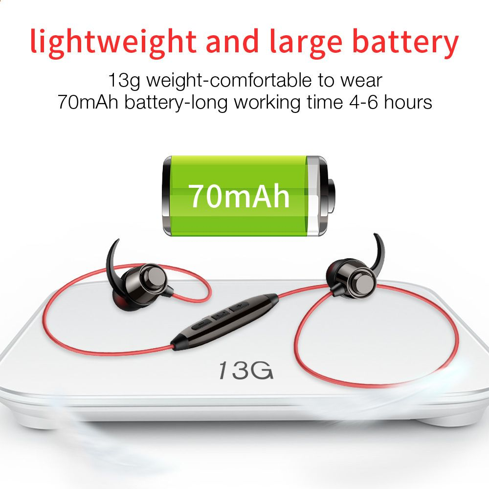 Sport vezeték nélküli fülhallgatók Kihangosító Bluetooth fülhallgató Sport  basszus fejhallgató mikrofonnal PC mobiltelefon iPhone xiaomi Huawei 3f9d150f0a