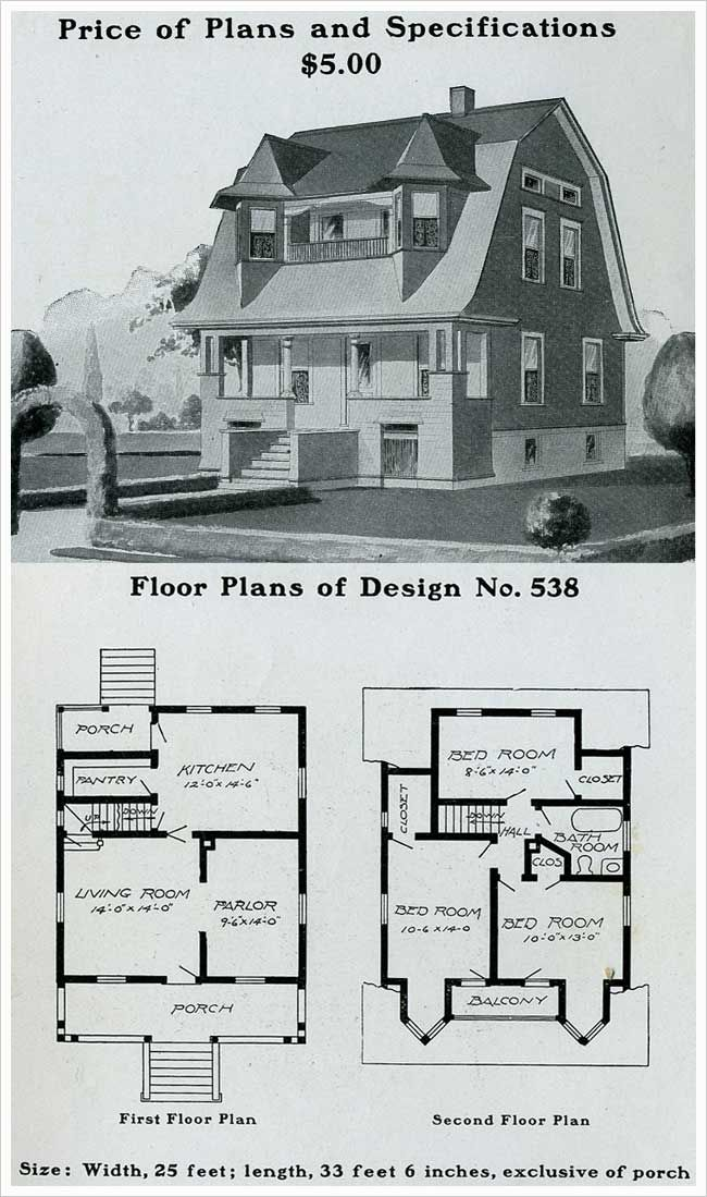 Radford 1903 early dutch colonial revival unusual for Early 1900 house plans