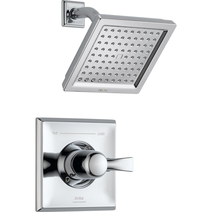 Delta Dryden Chrome 1-Handle Shower Faucet Trim Kit With Rain ...